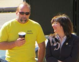 Tom Martz and Cynthia Davis at a Religious Freedom Rally, Springfield, Missouri.