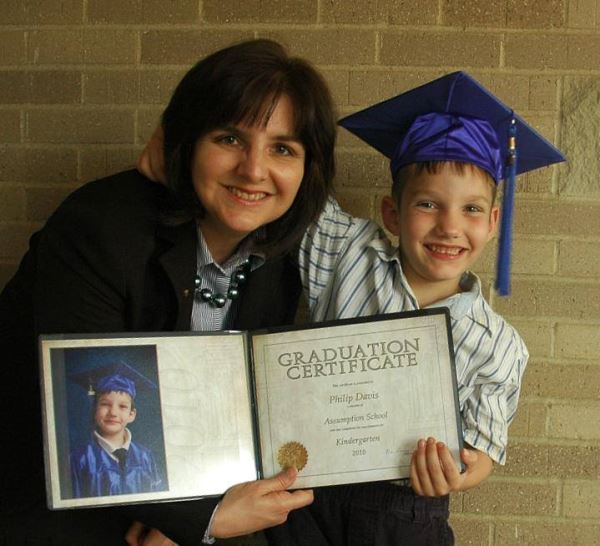 It seems like they're getting younger all the time.   This is my son at his kindergarten graduation.