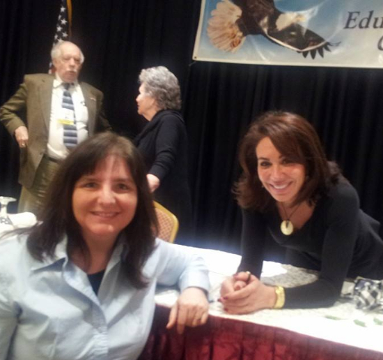 "This is a photo of me with Judge Jeannine Pirro at the Educational Policy Conference.   She did a memorable presentation about Islam.  One of my favorite quotes I use from her is, ""This political correctness is going to kill us."""
