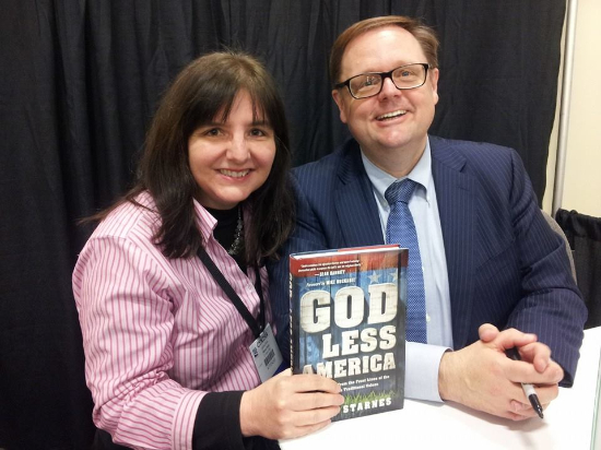 I was in Nashville, Tennessee this week attending the National Religious Broadcasters Convention when I was able to visit with Todd Starnes about what is happening to our Country.  God-less America pretty well sums it up.