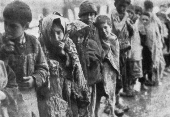 This is a photo of the children from the Armenian Genocide.   My grandfather could have been one of these.