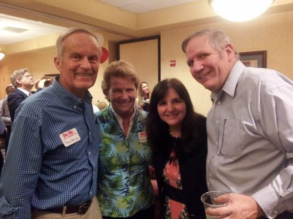 At the party, we bumped into former Congressman, Todd Akin and his wife, Lulli.