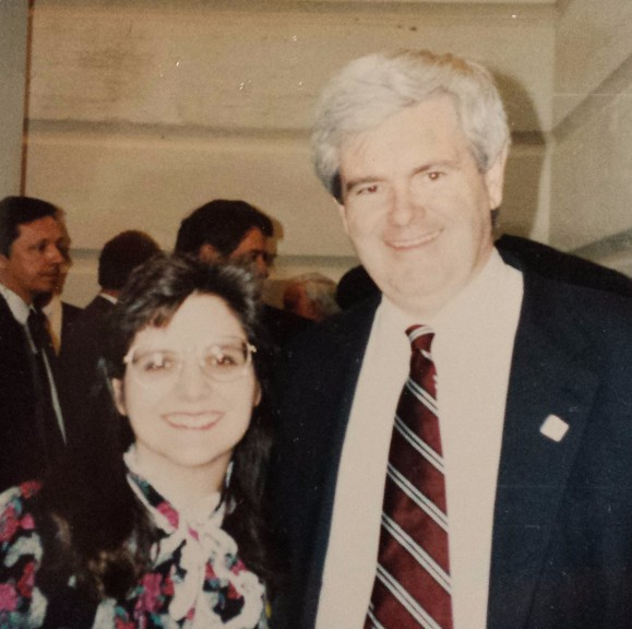 Around 1995, while attending a National League of Cities event in Washington, DC, I was invited to a briefing with the Speaker of the House, Newt Gingrich. I was an O'Fallon Alderman at the time and it was an honor to get to meet some of the players in the political theater. This photo was taken about 20 years ago---before digital cameras were invented! The point is we must never minimize the importance of the local offices.