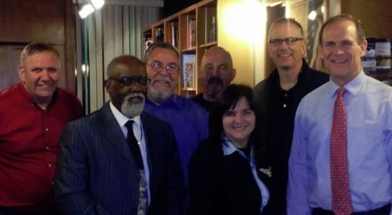 Right to Left: Bernie, Pastor Danny Holliday, Chris Clegg, Mark Kaiser, Me, Rick Simpson, Bill Federer.
