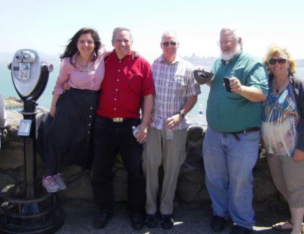 Any of you who have ever been a tourist will understand how fun it is to get to visit our nation's gems. This photo was taken when we were on a trip to study the American lands near the San Francisco Bay. From Left to Right, me, my husband, Bernie, Brother-in-law, Scott, Brother-in-Law, Mike and Sister-in-law, Heidi.