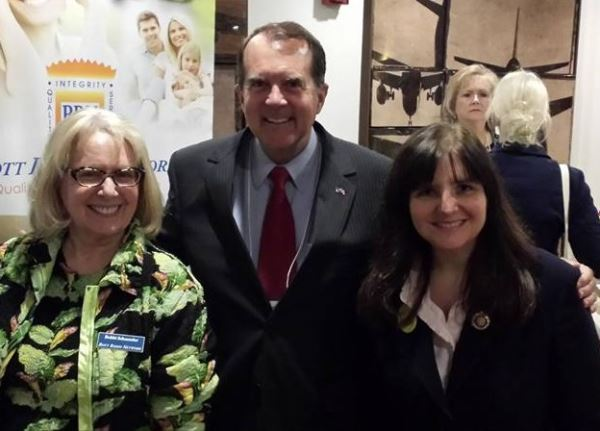 While at the Eagle Forum Conference, I visited with some colleagues in the battle to save our country. I am here with Bobbi Schuessler, account executive and Rich Bott at the Bott Radio Network Booth. In the background is Judy Sofka with the Missouri Precinct Project.
