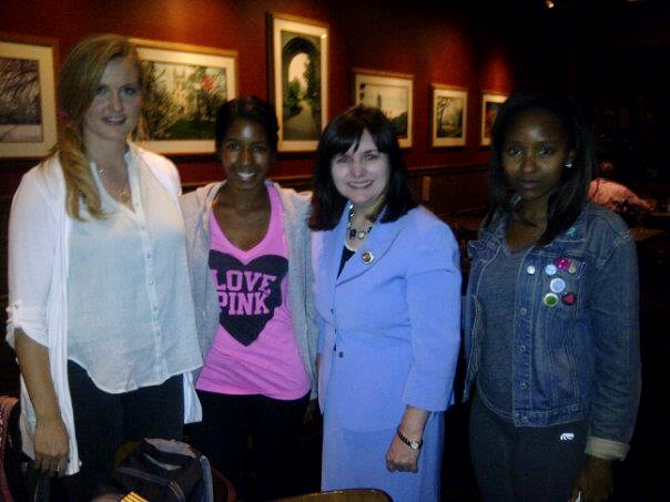 """This photo was taken at a meeting I had with the """"Students for Life"""" at Mizzou (Missouri's University in Columbia)."""