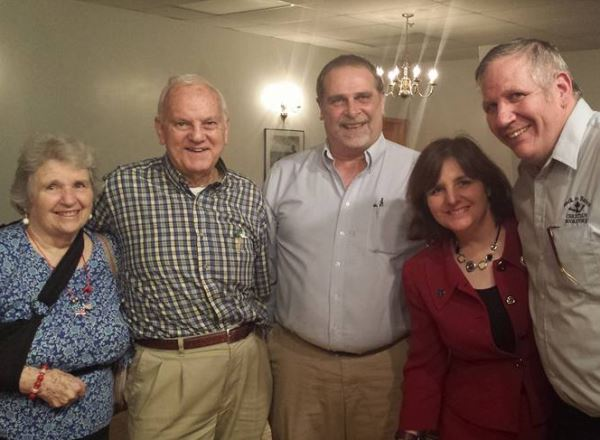Several precious supporters drove from considerable distances to attend our event last Thursday. L to R: My Mom and Dad, Marylin and Gordon Gosh, Dave Martin from Jefferson City and me and my husband, Bernie.