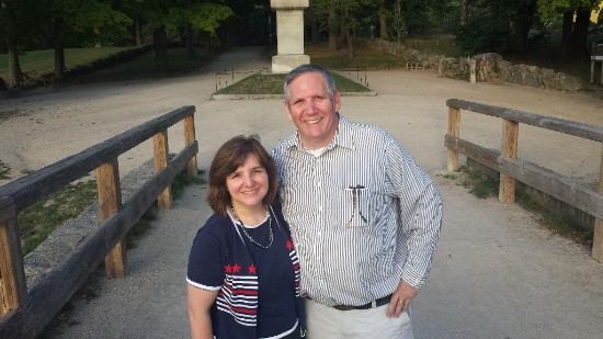 Bernie and I recently went to Boston.  The landmarks of our history and the fight for our independence are always inspiring.  The people of New England were faithful to document many events.  This helps us to understand and appreciate our history.  This is a picture of us at the Old North Bridge in Concord, Massachusetts, where the War for Independence began.